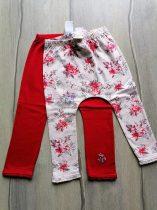Next leggings szett 2db-os piros, virágos Új-címkés (80)