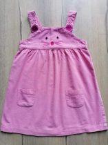 Jojo Maman Bébé ruhácska kantáros, bársony, rózsaszín (98)