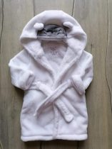 F&F fürdőköntös fehér, bárányos kapucnival (80)
