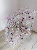 Disney esernyő Minnie mintás, átlátszó Új-címkés