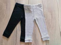 F&F leggings szett 2db-os csíkos, fekete színű Új-címkés (86)