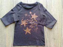 F&F póló h.ujjú, feliratos, flitteres csillag mintás Új-címkés (128)