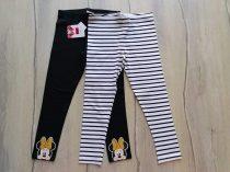 F&F leggings szett 2db-os csíkos, Minnie dísszel Új-címkés (98)