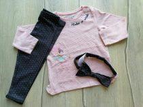 F&F póló h.ujjú+leggings+fejpánt szett, tündér mintás Új-címkés (92)