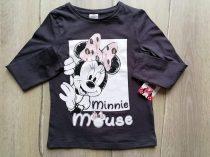 Disney póló h.ujjú feliratos, Minnie mintás Új-címkés (110)