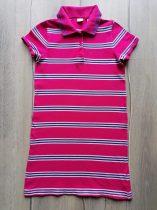 Next ruhácska rózsaszín, kék csíkos, galléros (146)