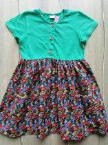 Next ruhácska zöld, gombos, virág mintás (110)