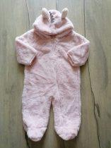 M&S overál h.rózsaszín, szőrmés, unikornis szarvval (74)