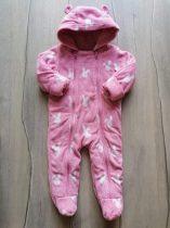 M&S overál polár, rózsaszín, nyuszi mintás (80)