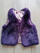 H&M mellény szőrme, sötét lila színű (128)