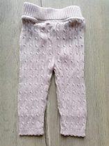 F&F leggings gépi kötött, bordázott, drapp színű (62)