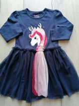 C&A ruhácska s.kék színű tüllel, unikornis mintás Új-címkés (134)