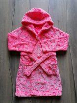 Matalan fürdőköntös rózsaszín, szív mintás (128)
