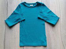 Next póló h.ujjú, bordázott, türkiz színű (116)