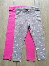 Primark leggings szett 2db-os rózsaszín, unikornis mintás Új-címkés (128)