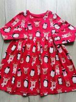 F&F ruhácska piros, karácsonyi mintás Új-címkés (110)