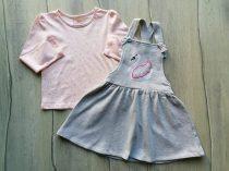 C&A póló h.ujjú+ruhácska kantáros szett hattyú dísszel Új-címkés (122)