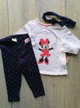 C&A póló h.ujjú+leggings+fejpánt szett Minnie mintás Új-címkés (92)