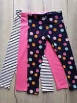 F&F leggings szett 3db-os rózsaszín, csíkos, pöttyös Új-címkés (92)