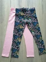 F&F leggings szett 2db-os h.rózsaszín, virág mintás Új-címkés (98)