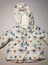 Bluezoo fehér alapon kék virágmintás kabát (68)
