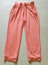 Next nadrág barack színben apró szögletes mintával (116)