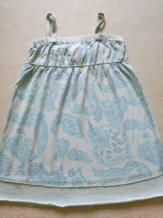 Lenge trikó világoskék színben kék mintával (128)