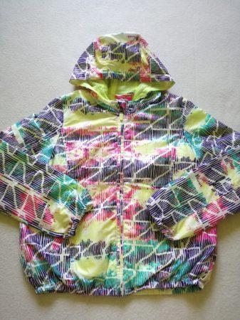 YD kabát átmeneti, színes csíkozással, kapucnival (134)