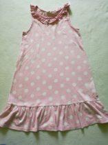 H&M rózsaszín-fehér pöttyös tunika (128)