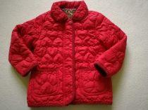 YD kabát átmeneti, piros, steppelt szívecskés (104)
