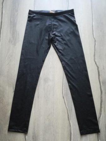 Zara leggings, fekete, műbőr hatású (140)