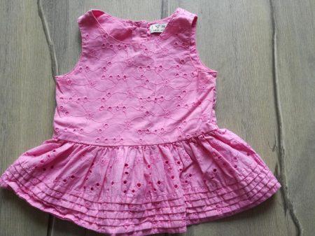 Next tunika, rózsaszín, hímzett virágos (86)