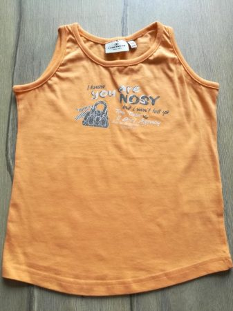 Tom Tailor trikó narancssárga, feliratos (104)