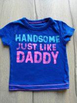 Next póló, kék, rózsaszín feliratos (68)